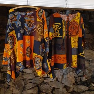 African inspired tops